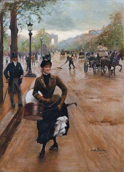 4 Jean Béraud, La Modiste Sur Les Champs Elysees. Shopping alla fine del 1800