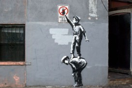1 Banksy. Graffiti is a crime, New York