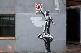 1 Banksy. Graffiti is a crime, New York