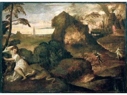 "Tiziano Vecellio, ""Orfeo Euridice"", 1506-1514"